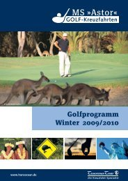 Golfprogramm Winter 2009/2010