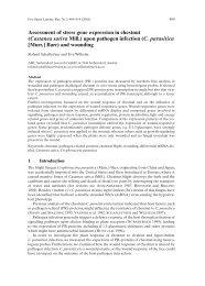 Assessment of stress gene expression in chestnut (Castanea ... - WSL
