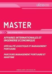 Master MANAGEMENT PORTUAIRE ET MARITIME - Université du ...