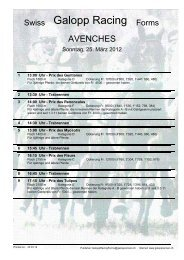 25. März 2012 AVENCHES Rennen 1 - Galopp Racing Forms