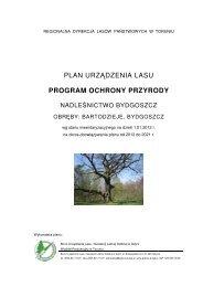 plan urządzenia lasu program ochrony przyrody - Państwowe ...