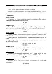 Úlohy z vedenia TU zo dňa 27. marca 2006