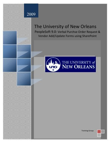 Peoplesoft 9.0 receiving Training - The University of New Orleans ...