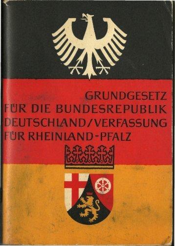 1965 - Grundgesetz (GG) für die Bundesrepublik Deutschland (BRD) - Verfassung für Rheinland-Pfalz (RP)