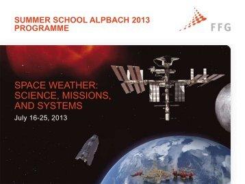 Summer School Alpbach 2006 Programme - FFG