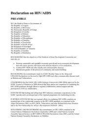 Sadc Declaration on HIV-AIDS - International Democracy Watch