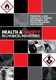 Health and Safety in Chemical Industries - Department of Labour