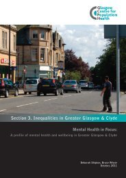 Section 3. Inequalities in Greater Glasgow & Clyde