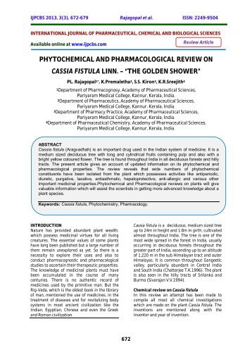 a phytochemical and pharmacological review essay Phytochemical screening and extraction essay prashant tiwari, et al: phytochemical screening and extraction: a review decoction, (soxhlet), part of the plant like bark, leaves, flowers a phytochemical and pharmacological review.