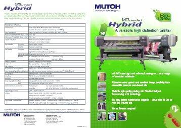 1608 Hybrid Printer - Mutoh Belgium nv.