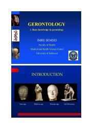 Branches of gerontology