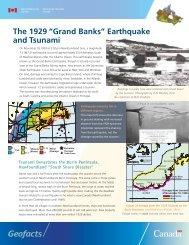 The Newfoundland Tsunami of November 18, 1929 - Earthquakes