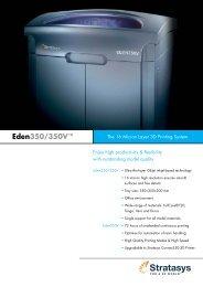 Download Objet Eden350V Spec Sheet - Stratasys