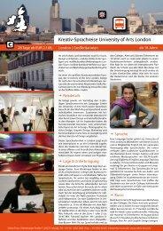 Kreativ-Sprachreise University of Arts London - Zebra-Tours