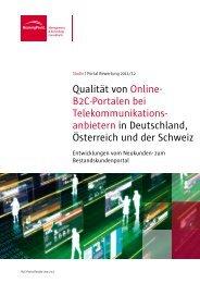 B2C-Portalen bei Telekommunikations - BearingPoint ToolBox