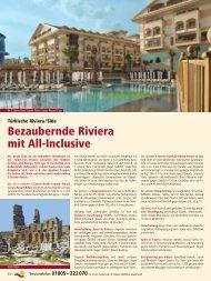 Bezaubernde Riviera mit All-Inclusive