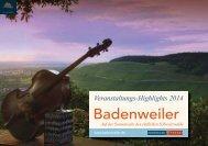 Veranstaltungskalender 2013 - Badenweiler