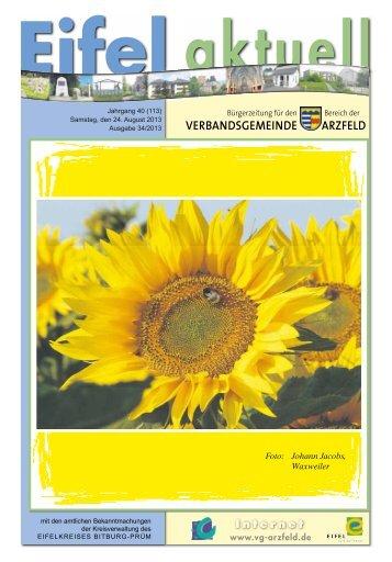 Ausgabe 34 - Verbandsgemeinde Arzfeld