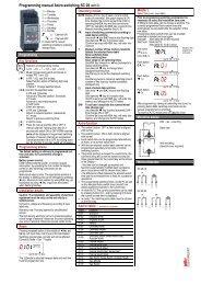 Programming manual Astro-switching SC 28 Mode ? 1x 3x