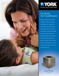 York LX Series YCJD 13+ SEER Air Conditioners from ... - UPGNet