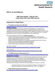 RDS for the East Midlands R&D Email Update – February 2011 ...