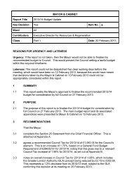 Budget 2013/14 Update PDF 164 KB - Council meetings - Lewisham ...