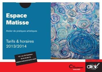 Horaires et tarifs 2013 / 2014