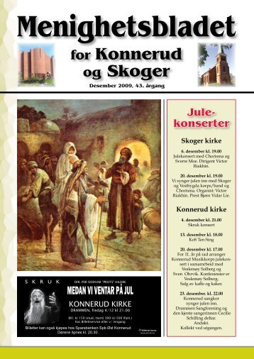 Menighetsblad nr 4/09 - Den norske kirke i Drammen