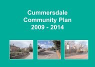 Cummersdale Community Plan 2009 - 2014 - Action with ...