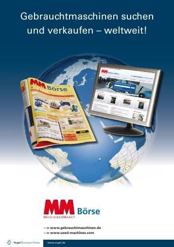 Gebrauchtmaschinen suchen und verkaufen – weltweit!