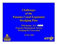 Challenges of the Panama Canal Expansion Dredging Plan ...