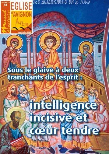 intelligence incisive et cœur tendre - Diocèse d'Avignon