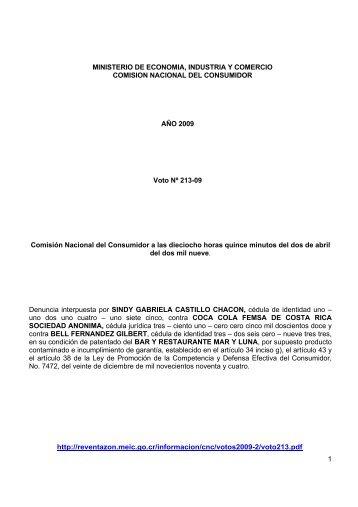 1 MINISTERIO DE ECONOMIA, INDUSTRIA Y COMERCIO ...