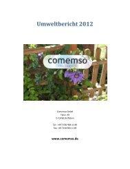 Umweltbericht 2012 - bei comemso
