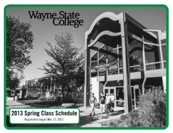 SPRING 2013-SCHEDULE-10-23-2012.indd - Wayne State College