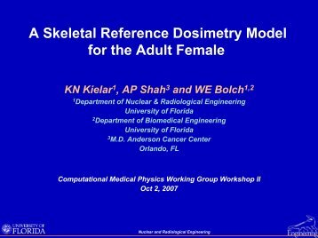 A Skeletal Reference Dosimetry Model for the Adult Female