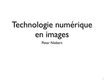 Diapos avec des images sur la technologie numérique