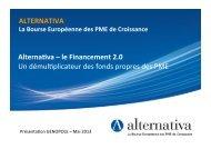 ALTERNATIVA Alternafva – le Financement 2.0 Un ... - Genopole