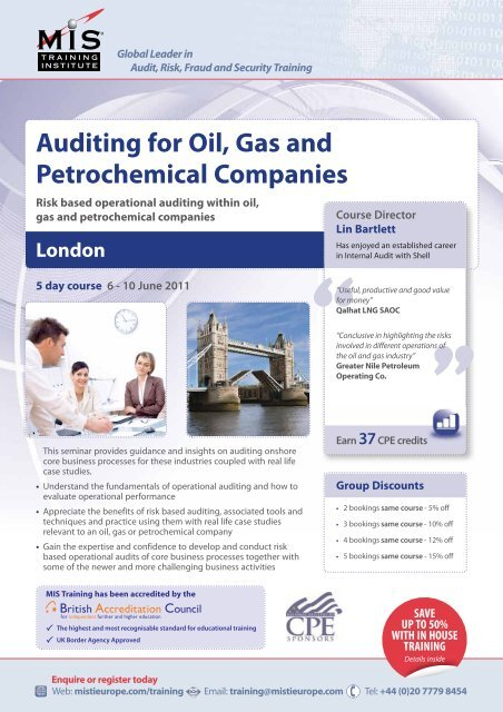 Auditing for Oil, Gas and Petrochemical Companies - MIS Training