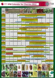 Integrated Pest Management (IPDM) - Cherry Growers Australia Inc