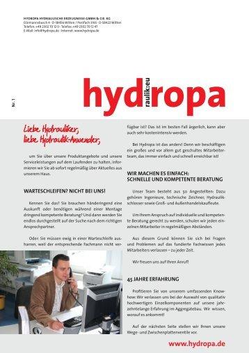 + Newsletter 1 - Hydropa GmbH & Cie. KG