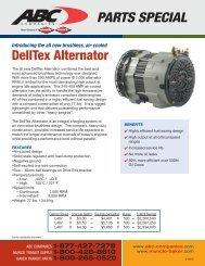 PARTS SPECIAL DellTex Alternator - ABC Companies