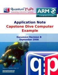 AN: Capstone Dive Computer Example - Quantum Leaps