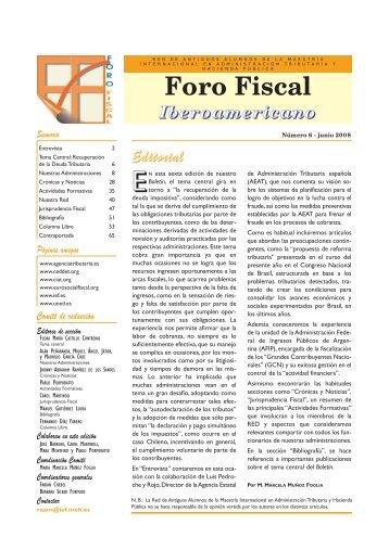 Boletin ForoFiscal nº 6 - RAAM - Sector Fiscalidad