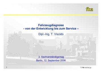 Fahrzeugdiagnose - von der Entwicklung bis zum Service - 5 ...