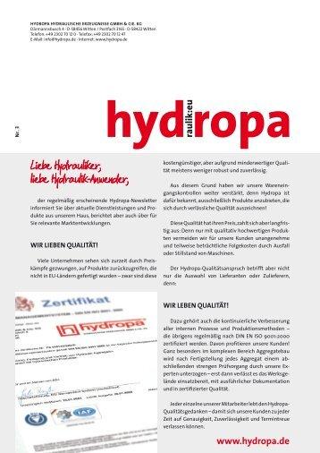 + Newsletter 3 - Hydropa GmbH & Cie. KG