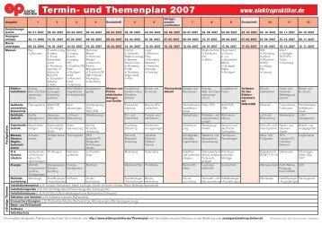 Termin- und Themenplan 2007 - huss Verlag