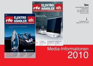 Media-Informationen 2010 - huss Verlag