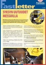 SYKSYN UUTUUDET MESSUILLA - Fastems