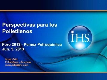 Perspectivas para los Polietilenos - Pemex Petroquímica